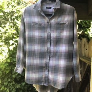 BDG high low flannel